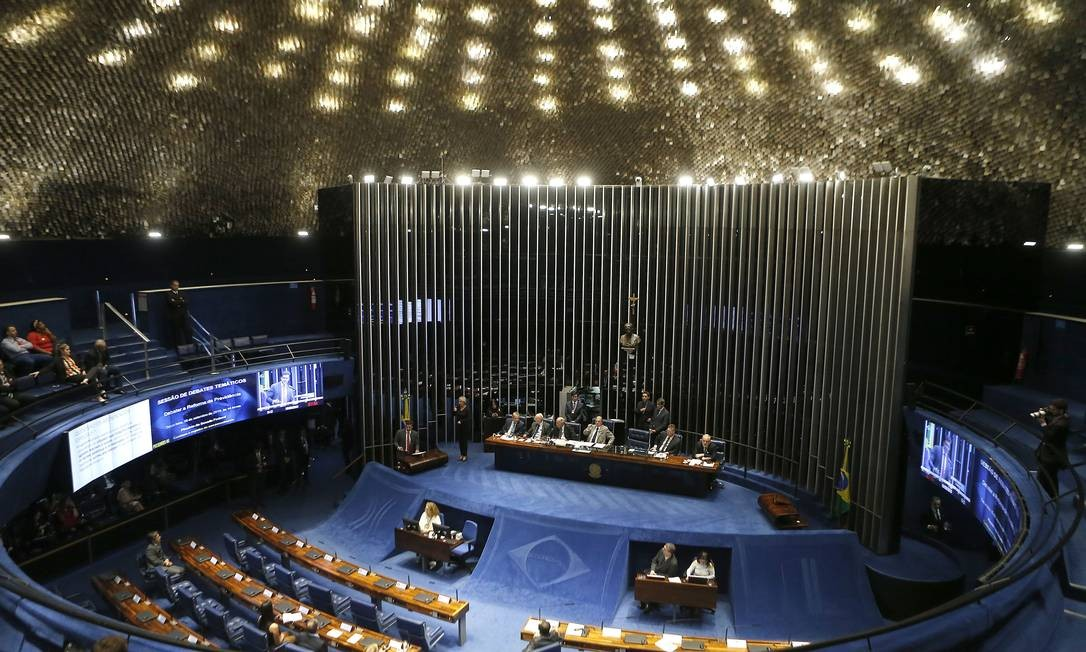 Sessão de debates sobre as propostas de reforma da Previdência Foto: Jorge William / Agência O Globo