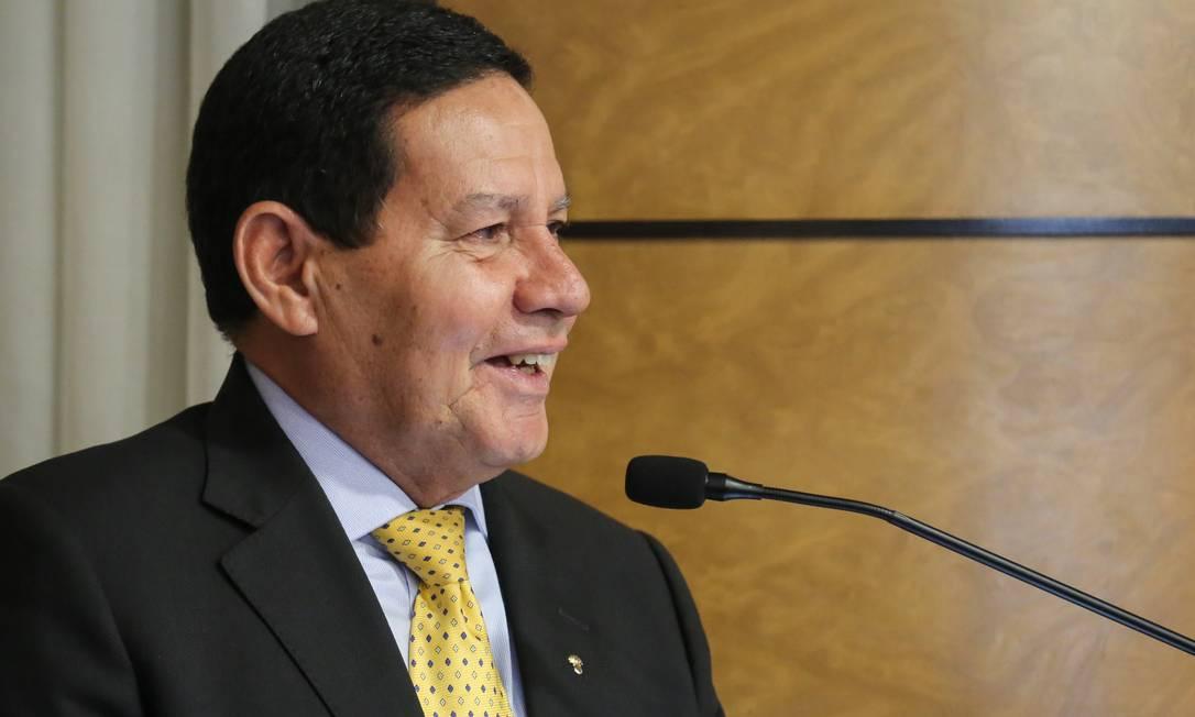 Hamilton Mourão Foto: Agência O Globo