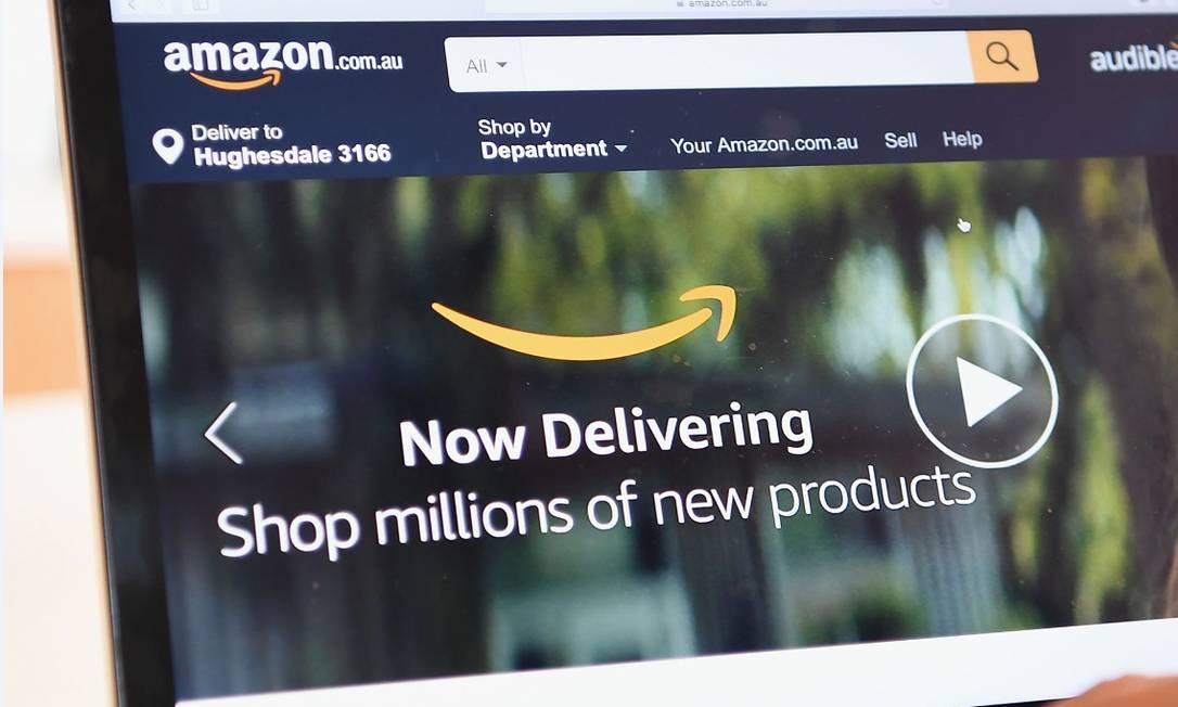Site da Amazon Foto: Bloomberg