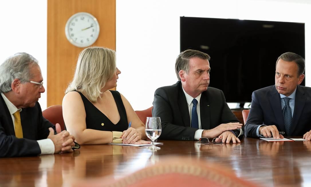 Doria participou de audiência com Paulo Guedes e Bolsonaro em abril deste ano em Brasília Foto: Marcos Correa / Agência O Globo