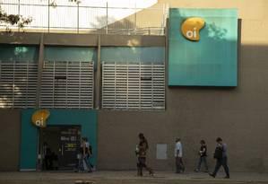 Lojas da Oi no centro do Rio Foto: Gabriel Monteiro / Agência O Globo