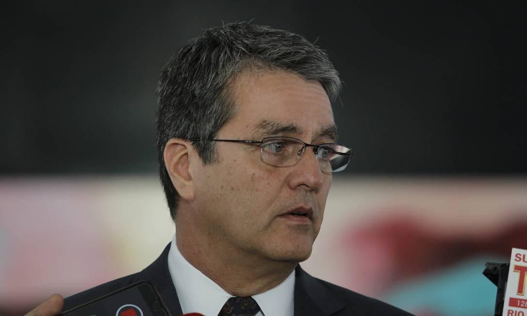 Diretor-geral da Organização Mundial de Comércio (OMC), Roberto Azevêdo Foto: Agência O Globo