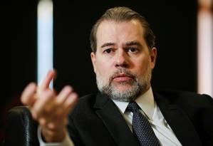 Presidente do STF, Dias Toffoli Foto: Adriano Machado / Reuters