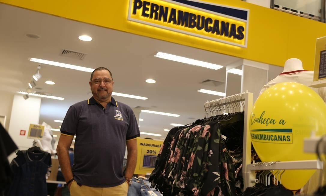 Sérgio Boriello na inauguração da nova loja Pernambucanas no Centro do Rio Foto: Pedro Teixeira / Agência O Globo