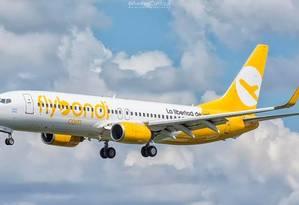 Avião da low cost argentina FlyBondi Foto: Reprodução