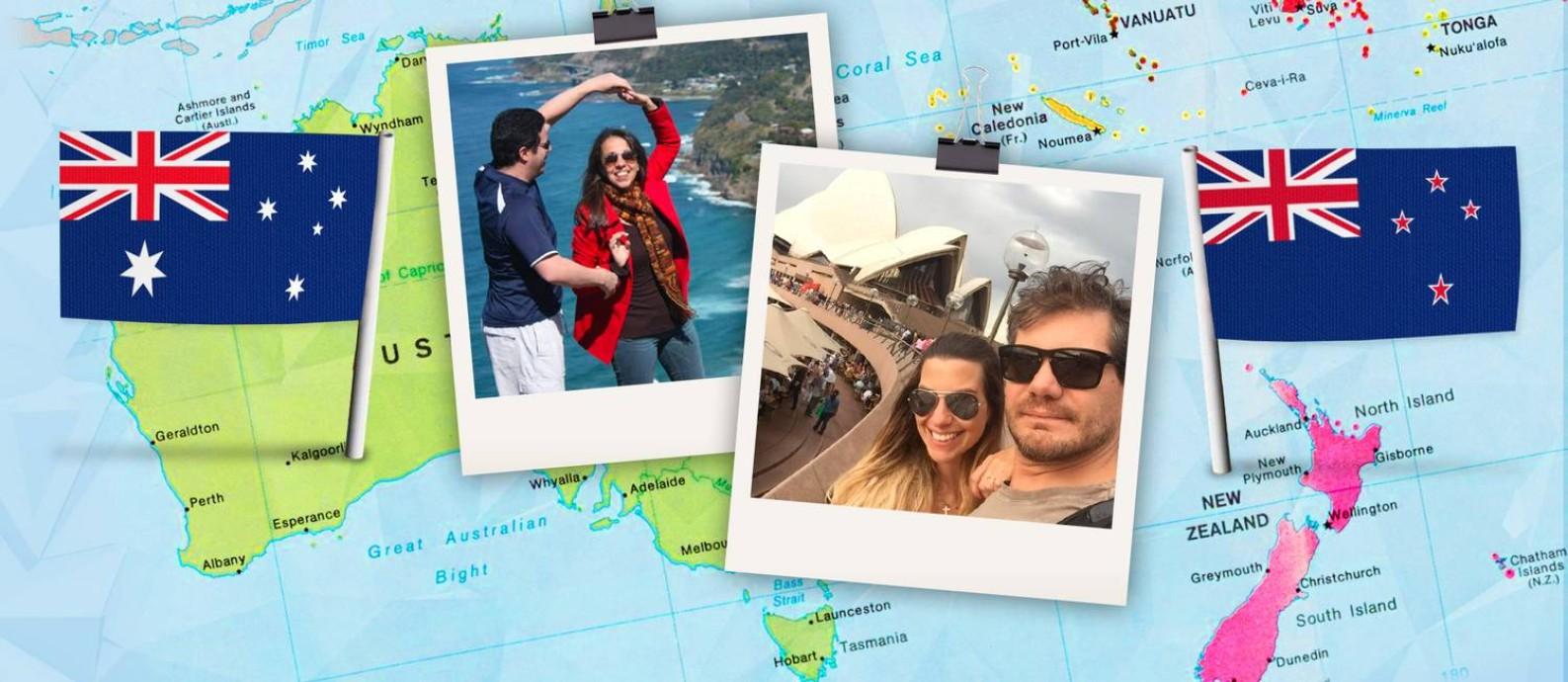 Ricardo Fiot (de blusa azul) e Ademar Victorino com a mulher Candice Zaniol (à direita) Foto: Acervo pessoal
