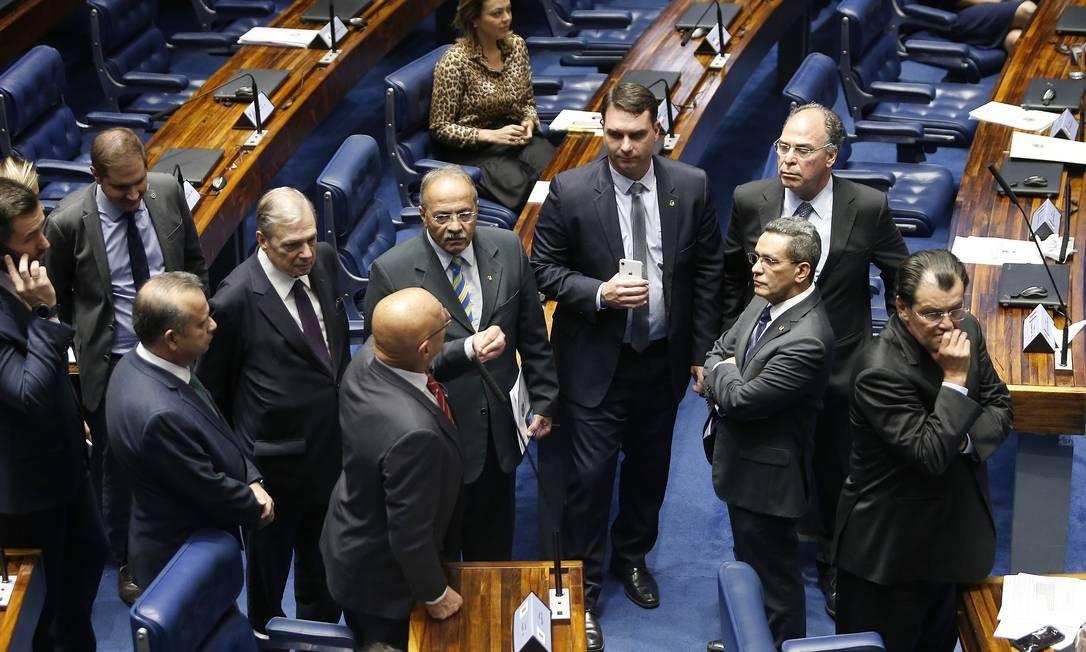 Plenário do Senado durante votação dos destaques à reforma da Previdência Foto: Jorge William / Agência O Globo