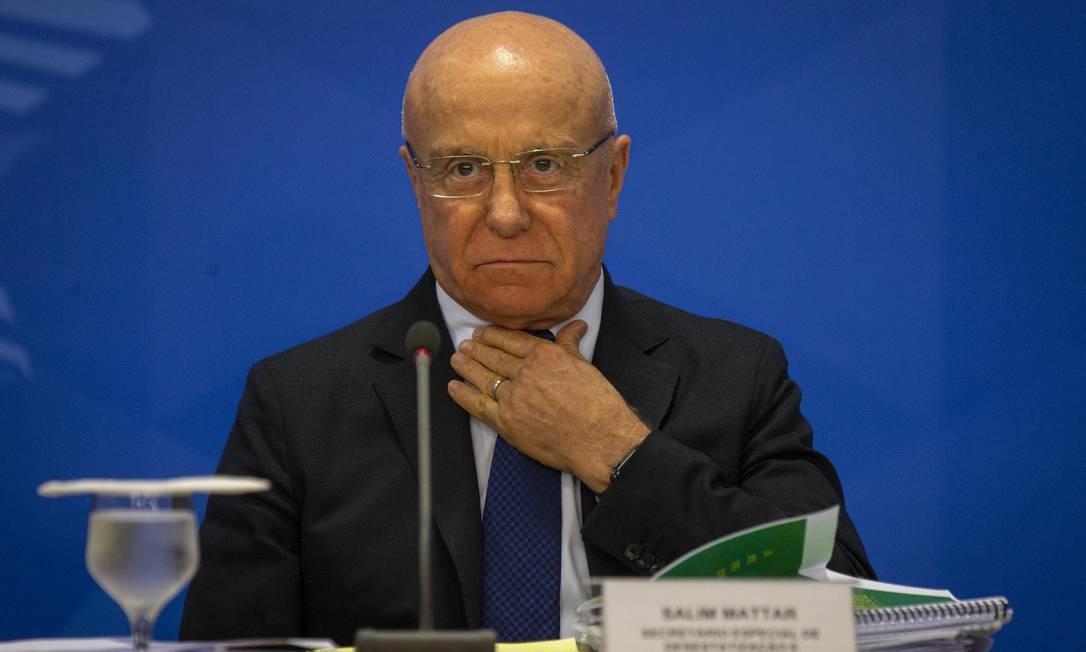 Secretário de Desestatização, Salim Mattar Foto: Daniel Marenco / Agência O Globo