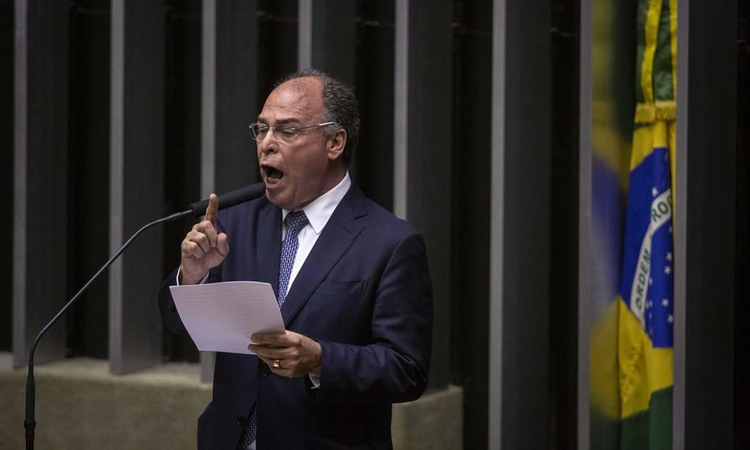 Líder do governo no Senado, Fernando Bezerr Foto: Daniel Marenco / Agência O Globo