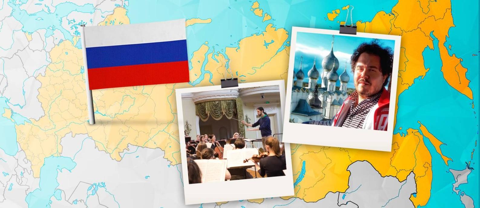 Rússia começa a atrair brasileiros Foto: Criação O Globo