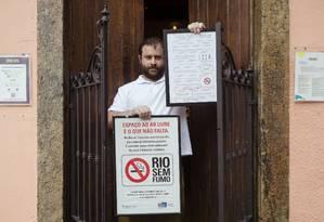 Fernando Blower, dono do Meza Bar e presidente do Sindicato dos Bares e Restaurantes do Rio de Janeiro Foto: Leo Martins / Agência O Globo