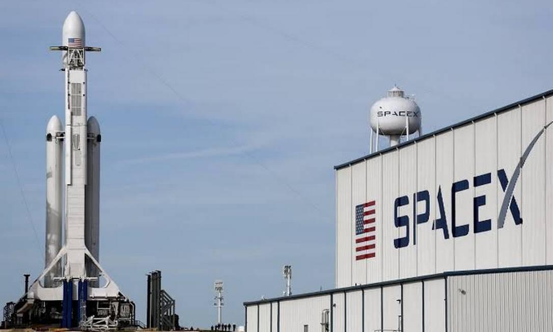 Fábrica da SpaceX, de Elon Musk Foto: Reprodução