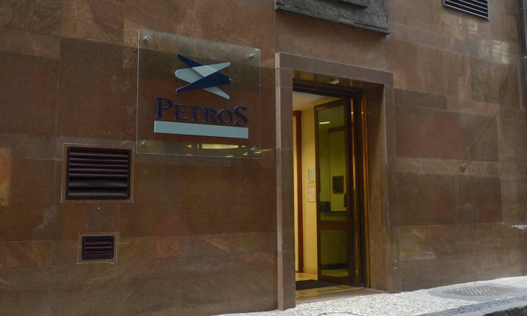 Fachada da sede da Petros no Rio Foto: Armando Paiva / Agência O Globo