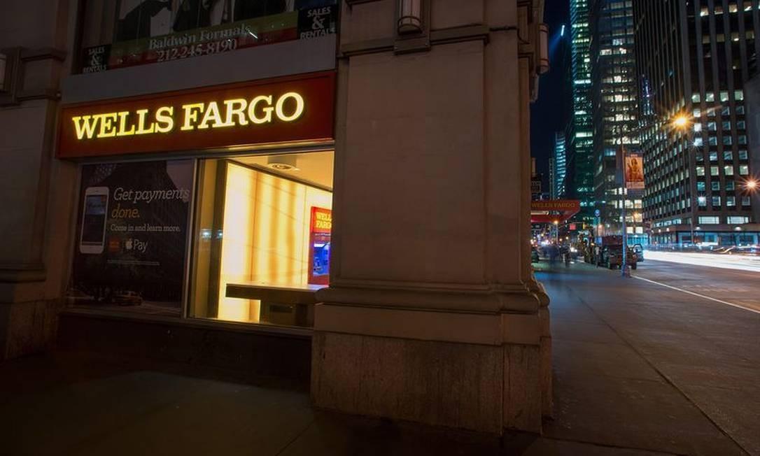 Fachada da Wells Fargo Foto: Bloomberg