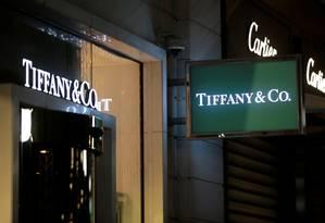 Loja da Tiffany em Nice, na França Foto: ERIC GAILLARD / REUTERS