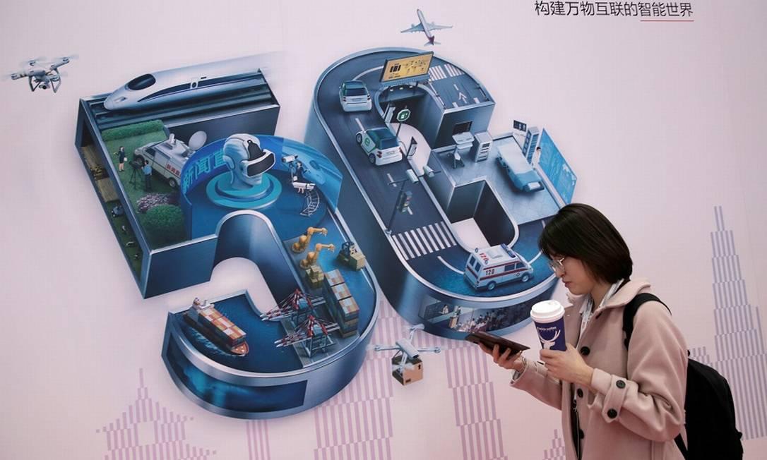 Uso da tecnologia chinesa para a próxima geração de telefonia celular é avaliado pelo governo Foto: Jason Lee / Reuters