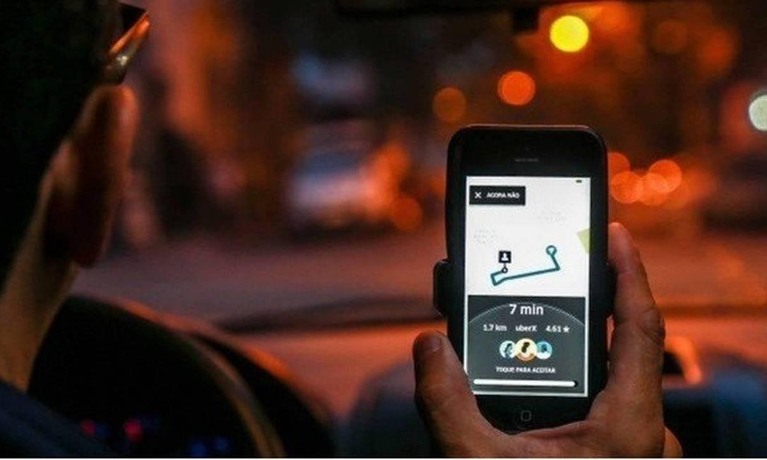 A Uber pode ser impedida de funcionar em Londres: motoristas não autorizados podem manipular o aplicativo Foto: Arquivo