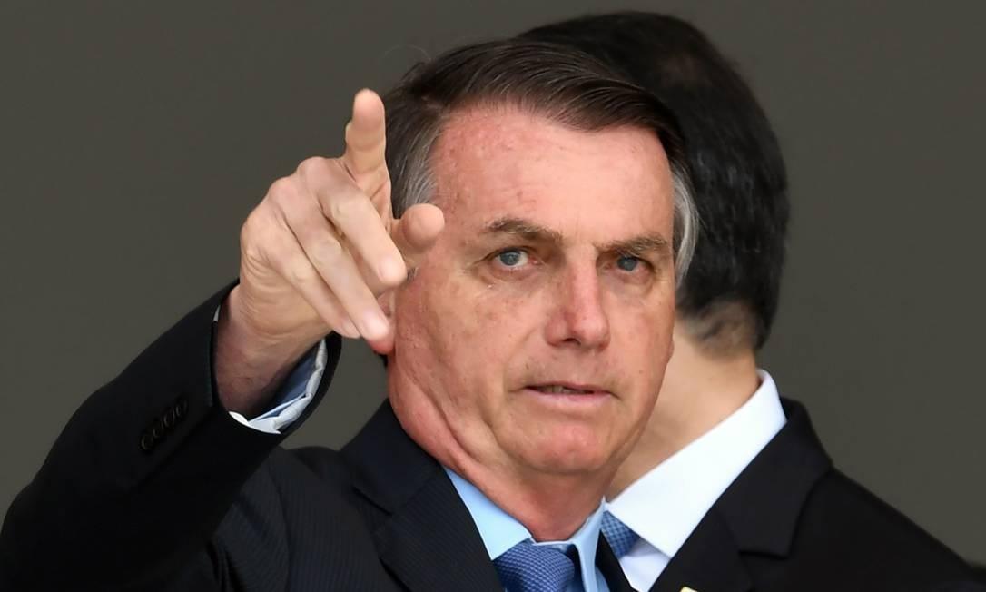 Bolsonaro: 'Somos os pobres da história, eu não sei quantas vezes a economia deles (dos EUA) é maior do que a nossa Foto: Evaristo Sá / AFP