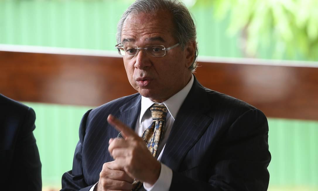 Ministro da Economia, Paulo Guedes Foto: Marcos Oliveira / Agência O Globo