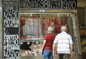 Preço da carne dispara nos açougues Foto: Gabriel de Paiva / Agência O Globo