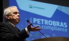 Roberto Castello Branco, presidente da Petrobras, discursa em evento no Rio Foto: Sergio Moraes / Reuters