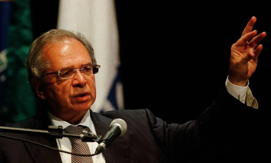 O ministro da Economia, Paulo Guedes Foto: Tânia Rêgo / Agência O Globo