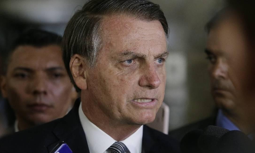 Bolsonaro: 'Está feito o desafio aqui agora. Eu zero o federal hoje e eles zeram o ICMS' Foto: Arquivo