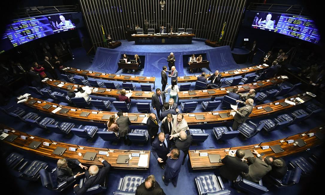 Plenário do Senado Federal durante sessão deliberativa ordinária Foto: Marcos Oliveira / Agência O Globo