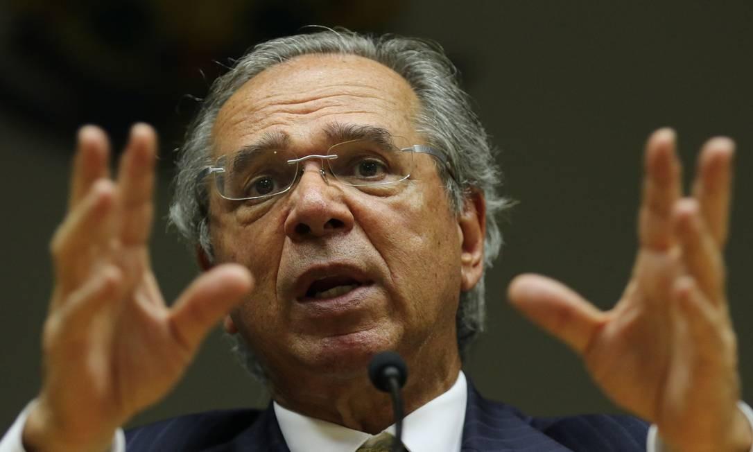 O ministro da Economia, Paulo Guedes Foto: Fabio Rodrigues Pozzebom / Agência O Globo
