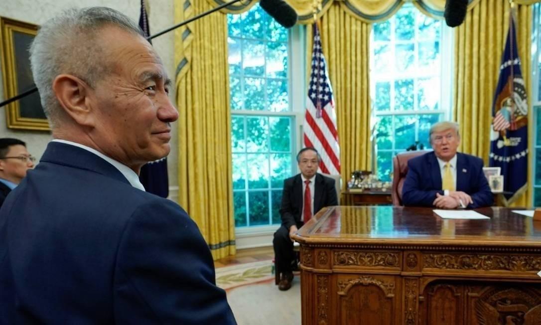 Liu He, da China, assinará acordo comercial de Fase 1 nos EUA esta semana Foto: AFP