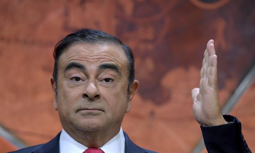 Foto de arquivo tirada em 15 de setembro de 2017 do então presidente e CEO da aliança Renault-Nissan, Carlos Ghosn Foto: AFP