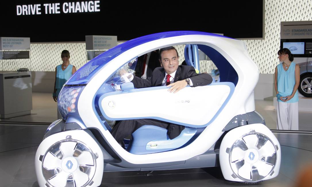 Ex-executivo da Nissan e Renault Carlos Ghosn, durante Salão do Automóvel, em Frankfurt, em 2009 Foto: Johannes Eisele / Reuters