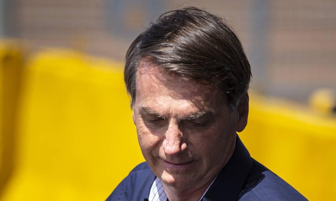 Bolsonaro disse que conversou com o ministro do GSI, Augusto Heleno, e tem uma estratégia Foto: Daniel Marenco / Agência O Globo