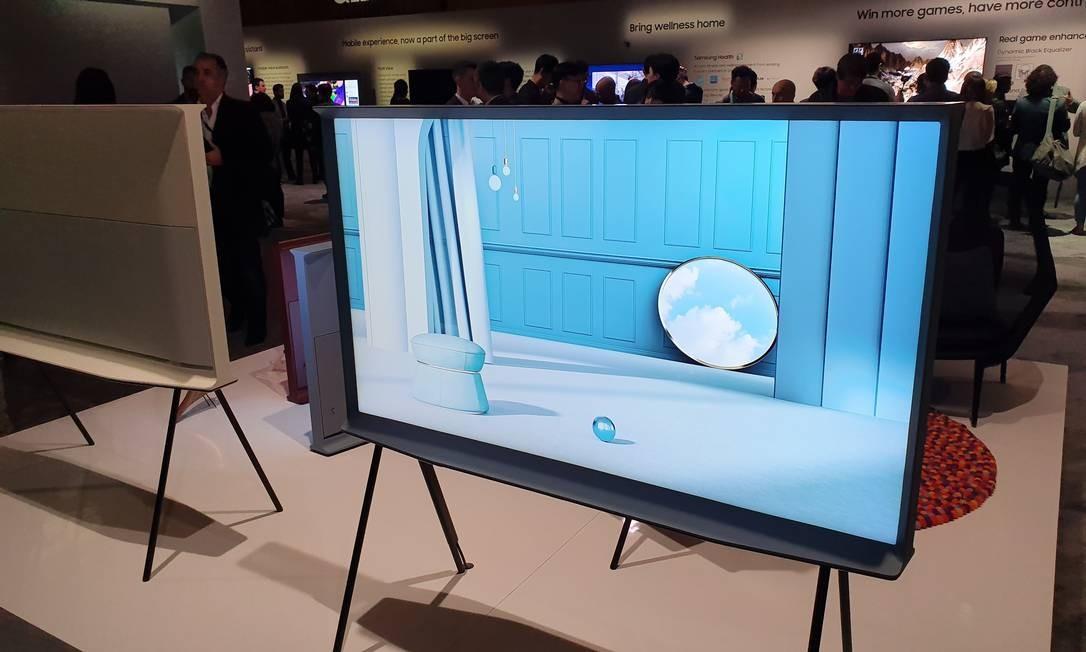 Tv de led 8K apresentada na CES 2020 Foto: Agência O Globo