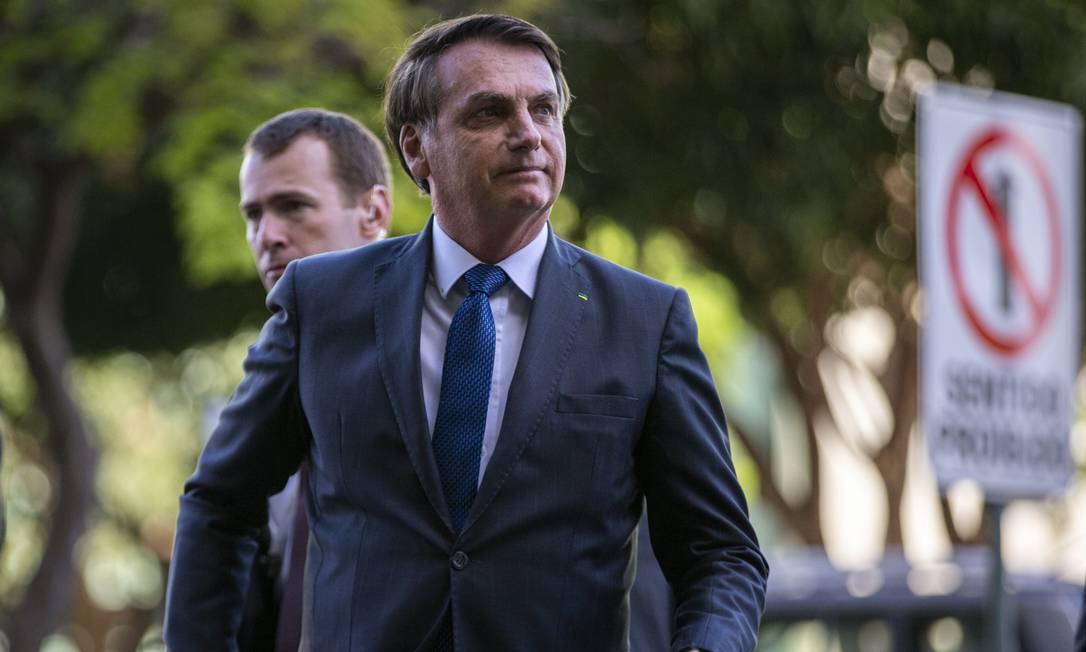 Bolsonaro chega ao Ministerio de Minas e Energia para reunião com o ministro Bento Albuquerque Foto: Daniel Marenco / Agência O Globo