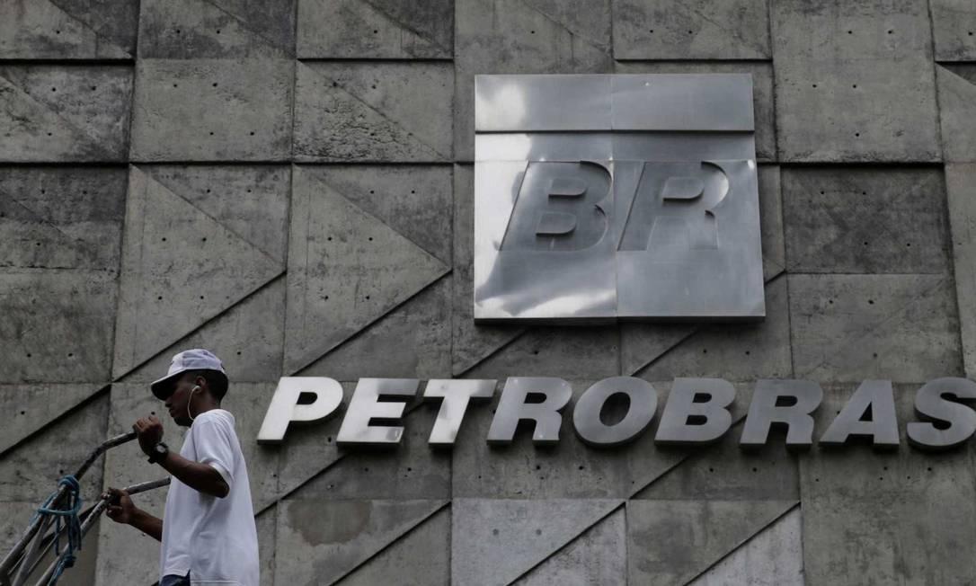 Logo da Petrobras, no edifício-sede da companhia Foto: Reprodução