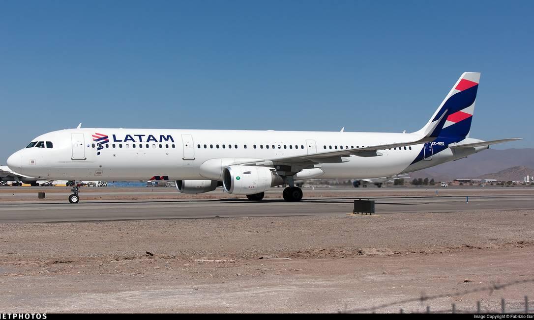 Avião da Latam: com queda na demanda, empresa pediu recuperação judicial Foto: Reprodução