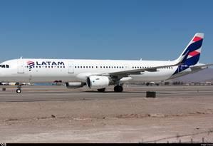 Airbus 321 da Latam Foto: Reprodução