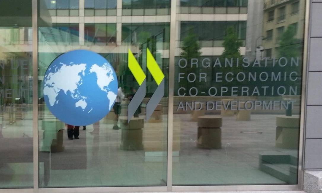 Fachada do prédio da OCDE, em Paris Foto: Reprodução