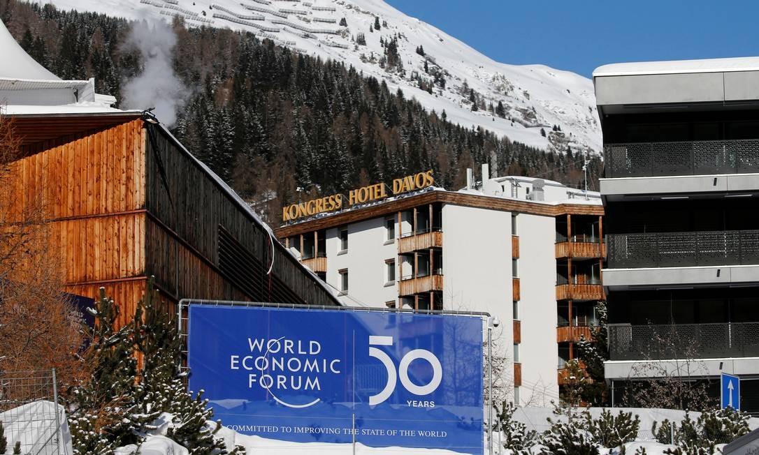 Fórum Econômico Mundial, em Davos, na Suíça Foto: Denis Balibouse/Reuters