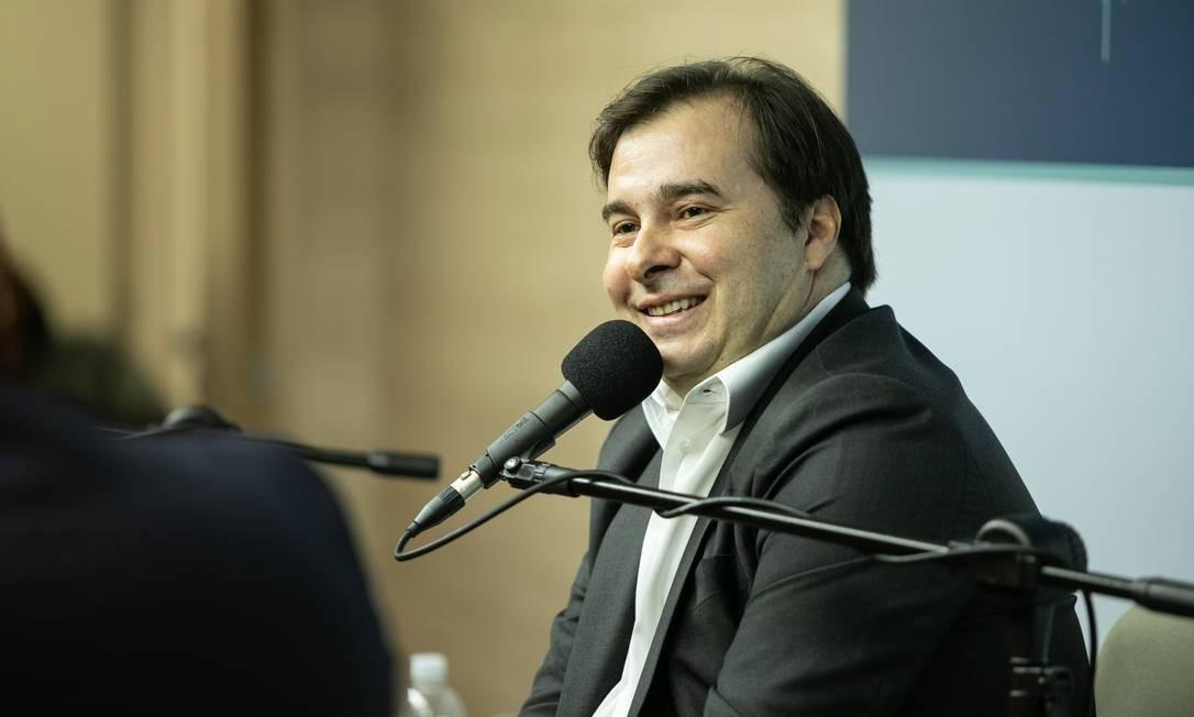 Presidente da Câmara, Rodrigo Maia, no auditório do GLOBO - 09/12/2019 Foto: Brenno Carvalho / Agência O Globo
