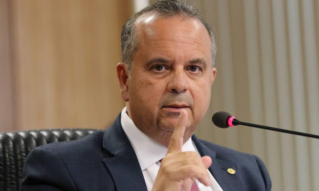 O secretário especial de Previdência e Trabalho, Rogério Marinho,anuncia demissão de Renato Vieira do INSS Foto: Fabio Rodrigues Pozzebom / Agência O Globo