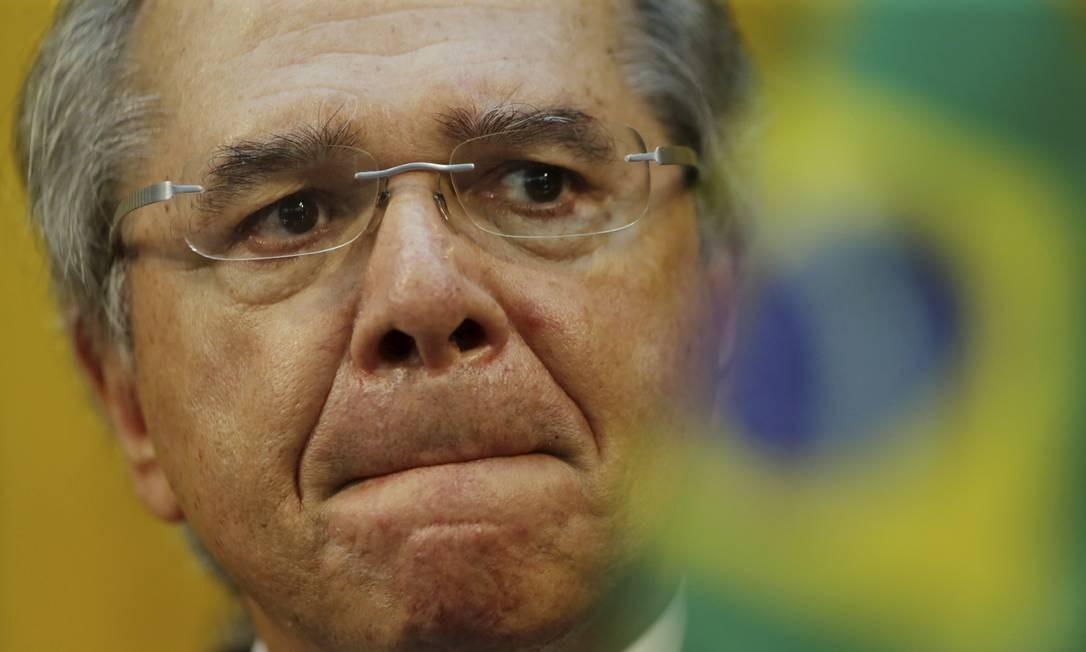 O ministro da Economia, Paulo Guedes, comparou servidores a parasitas Foto: Marcelo Theobald / Agência O Globo
