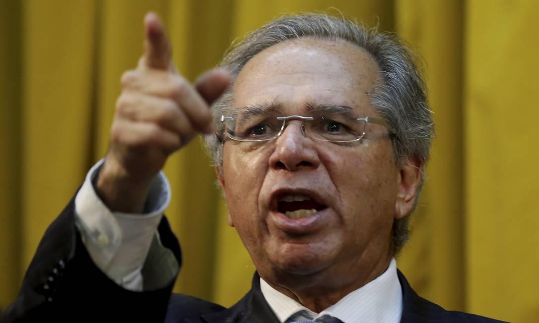 O ministro da Economia, Paulo Guedes Foto: Marcelo Theobald / Agência O Globo