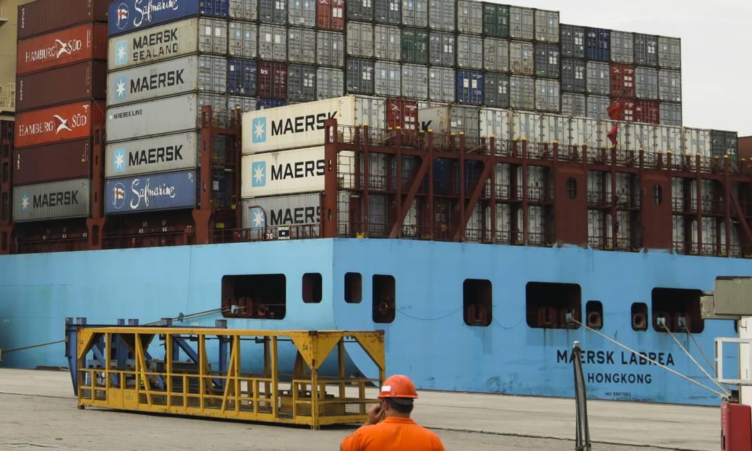 Porto de Itaguaí, no Rio Foto: Gabriel de Paiva / Agência O Globo