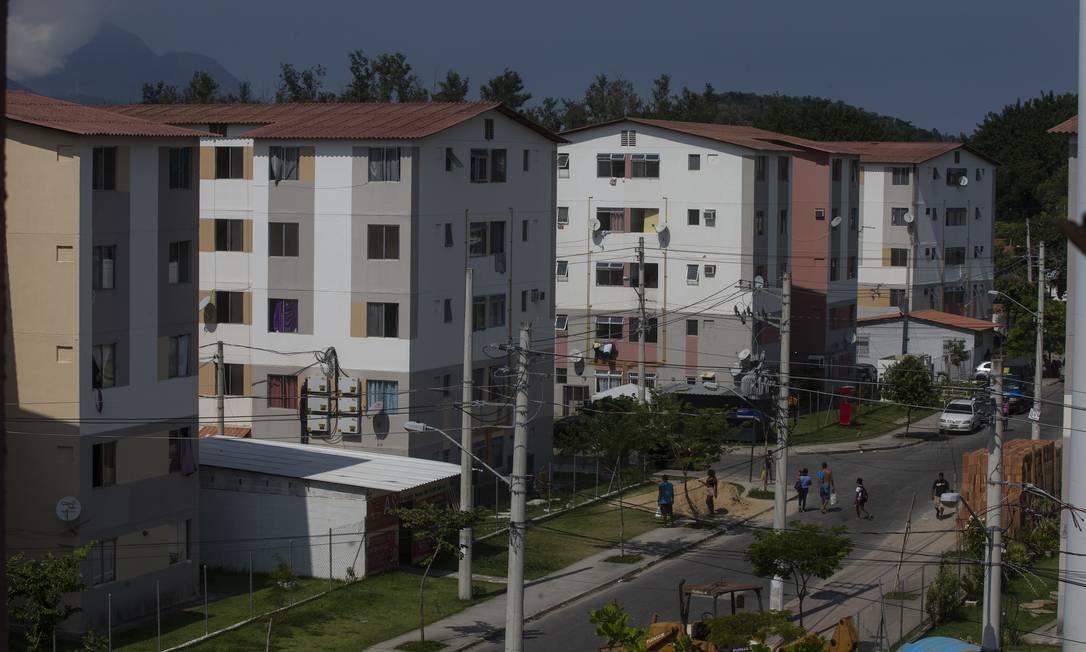 Conjunto habitacional do programa Minha Casa Minha Vida em Jacarepaguá Foto: Alexandre Cassiano / Agência O Globo