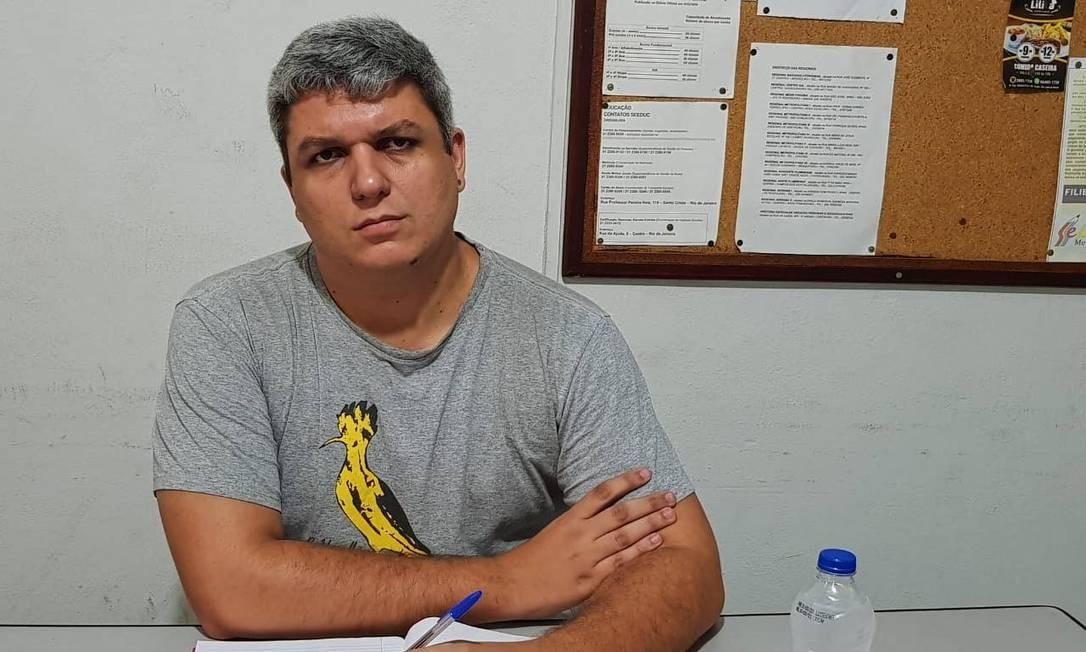 O professor de Geografia Miguel Pinho criticou as declarações de Guedes Foto: Gabriela Oliva / Agência O Globo