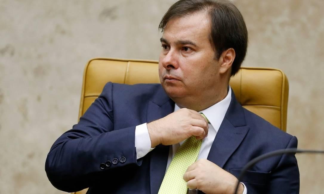 Rodrigo Maia, já posicionou pela constitucionalidade da medida Foto: Jorge William - Agência O Globo