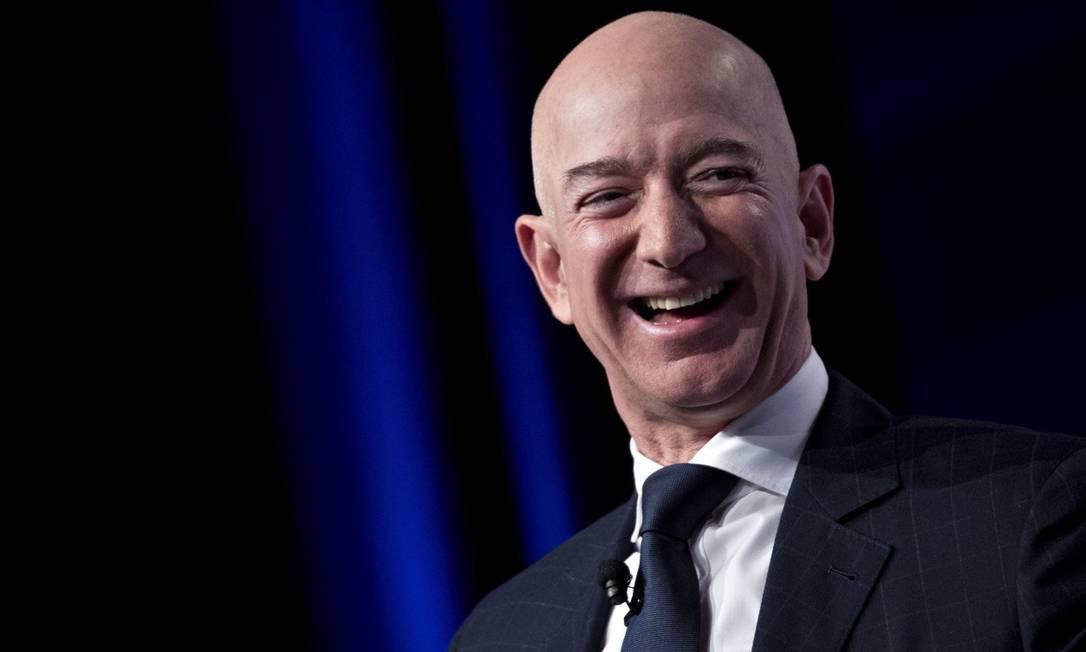 Jeff Bezos, fundador da Blue Origin e CEO da Amazon,enriqueceu US$ 76,9 bilhões em 2020 Foto: Bloomberg