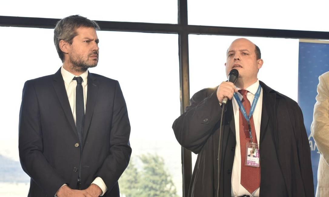 Novo presidente da Aerolíneas Argentinas, Pedro Ceriane (à direita) aposta no turismo para a reativação econômica Foto: Janaína Figueiredo